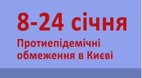 Зимовий локдаун у Києві: які обмеження діють із 8 до 24 січня
